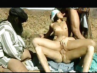 Pretty Dark Haired Mafalda Was Ambling On The Desert With Three Beduins