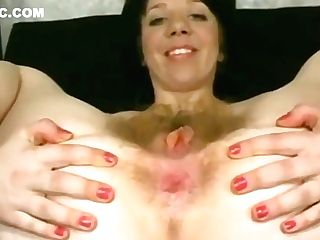 Foolish Nymph Flashing Hairy Booty Crack And Empty Saggy Tits